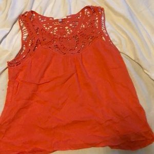 Pink/Coral lace tank